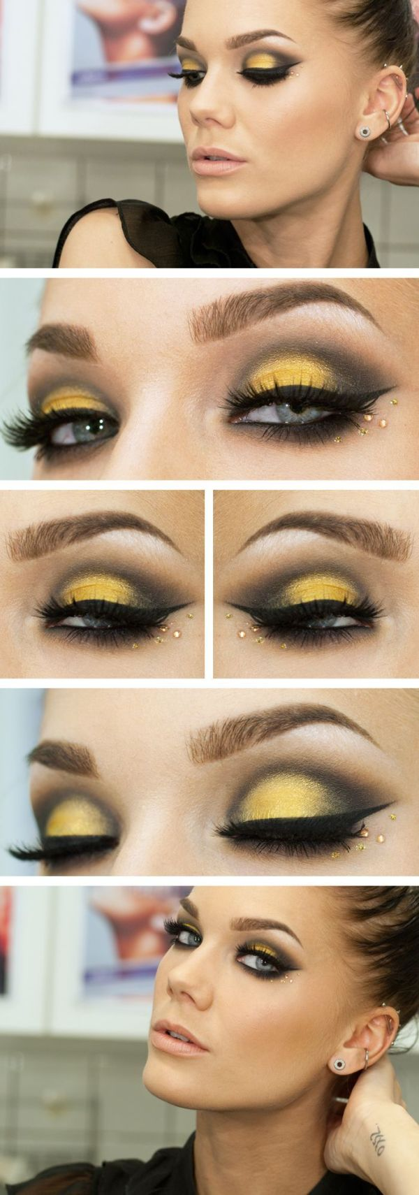 Maquillaje para disfrazarse de abeja en Carnaval 2018 y Halloween