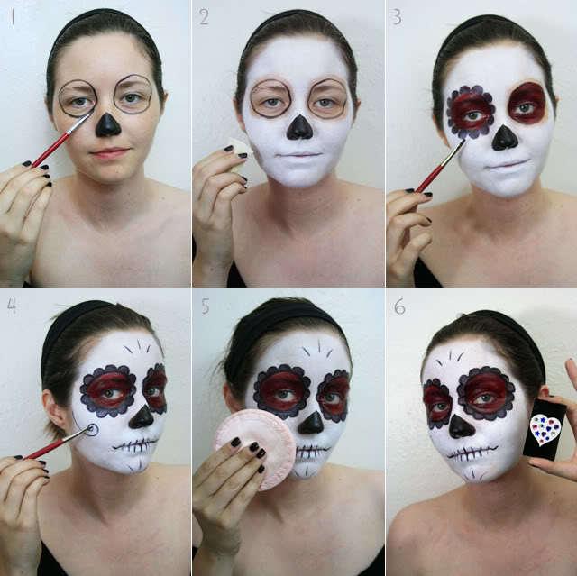 maquillaje disfraz esqueleto