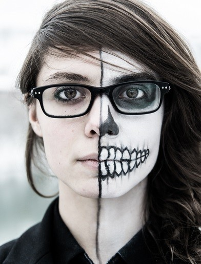 maquillaje de la muerte