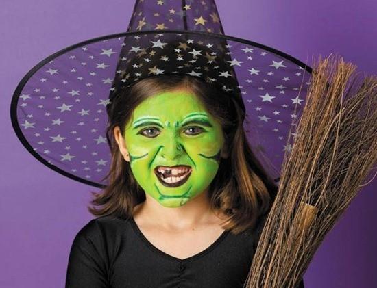 Maquillaje Halloween para niños maquillaje de bruja