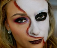 Maquillaje de fantasía: el fantasma de la ópera Halloween 2017