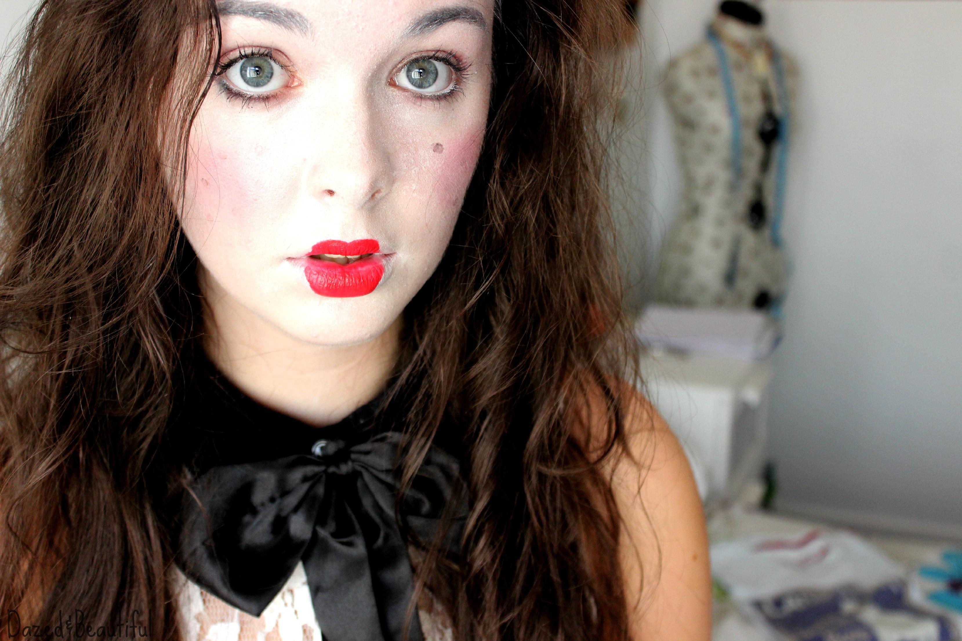 maquillaje para un disfraz de muñeca