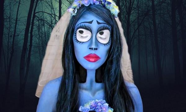 maquillaje-para-halloween-novia-cadaver-halloween-2015-con-los-ojos-cerrados
