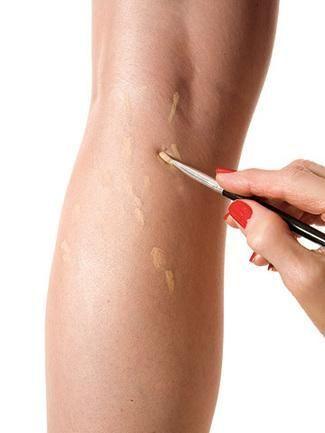 maquillar pierna