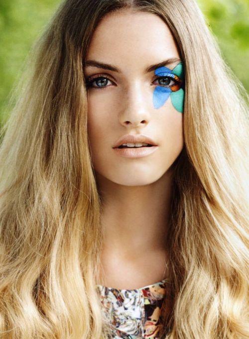 Otras ideas para el maquillaje de Hippie para Halloween 2015-flor-en-el-ojo