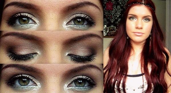 Otras ideas para el maquillaje de Hippie para Halloween 2015-ojos-con-brillos