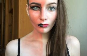 Maquillaje para disfrazarse de ángel o demonio Halloween 2015