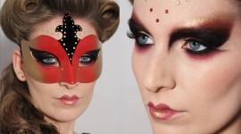 Maquillaje para acompañar máscara veneciana Halloween 2019