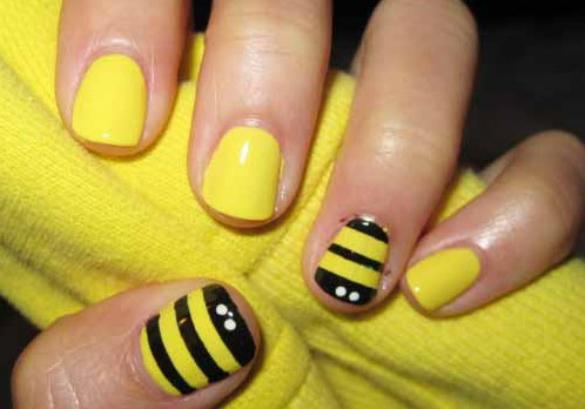 maquillaje-para-disfraz-de-abeja-halloween-2015-decoracion-de-uñas