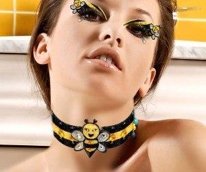 Maquillaje para disfrazarse de abeja en Halloween 2015