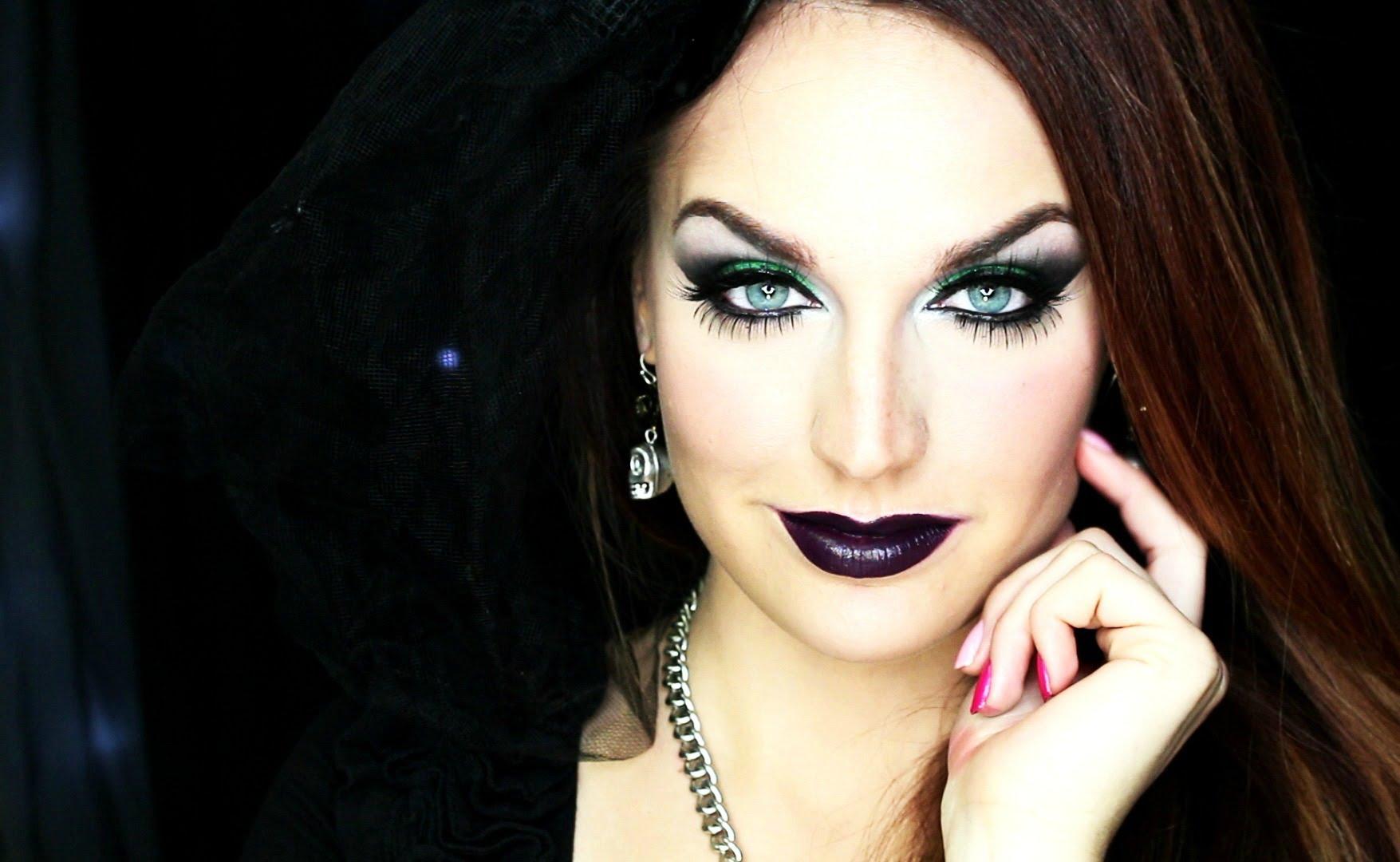 maquillaje para un disfraz de bruja