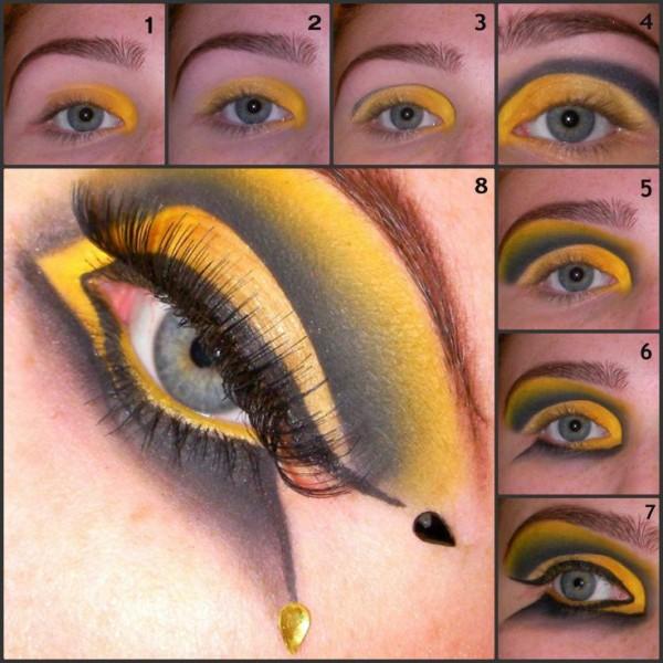 maquillaje-de-abeja-para-carnaval-2016-maquillaje-de-ojos-paso-a-paso