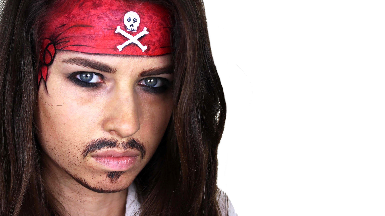 maquillaje disfraz de pirata mujer