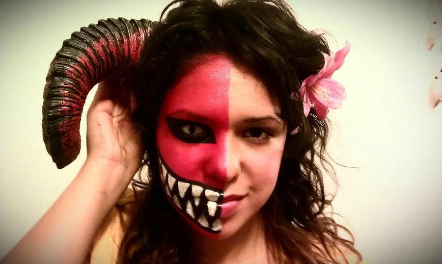 maquillaje disfraz de angel o demonio carnaval 2016