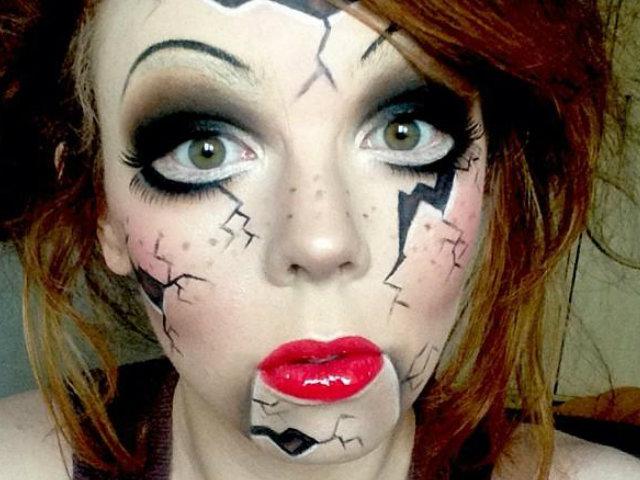 Vdeo Maquillaje para disfrazarse de mueca en Halloween 2018