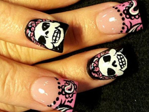 unas-halloween-2016-negras-y-rosas
