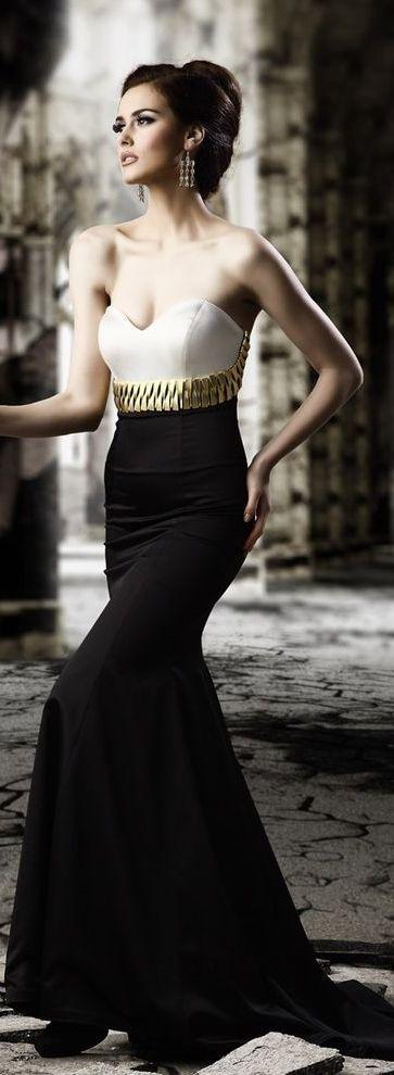 vestido negro maquillaje