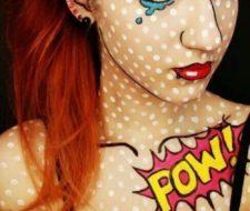 Maquillarse como chica de cómic en Halloween 2017