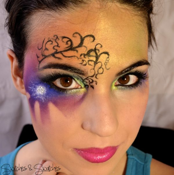 Maquillaje de fantas a para carnaval 2018 y halloween - Pintura cara halloween ...