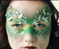 Maquillaje de hada verde Halloween 2017