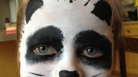 Maquillaje para niños Halloween 2017: Oso panda
