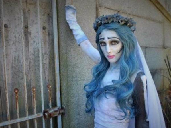 maquillaje-halloween-novia-cadaver-azul