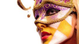Maquillaje para acompañar máscara veneciana Halloween 2017