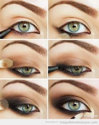 maquillaje-para-un-vestido-amarillo-ojos-ahumados