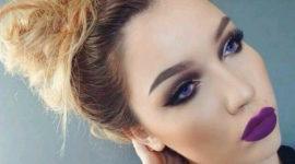 Maquillaje para un vestido morado