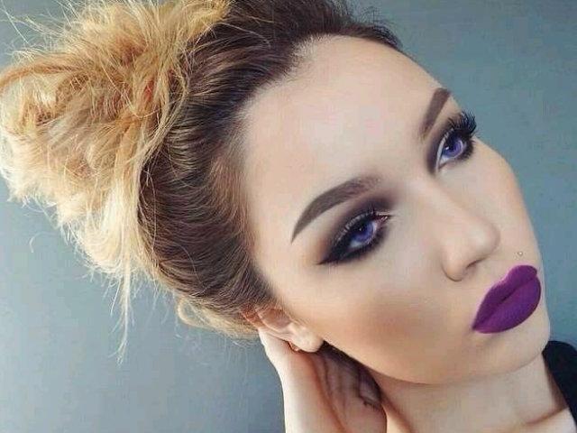 Maquillaje para fiesta de dia con vestido negro