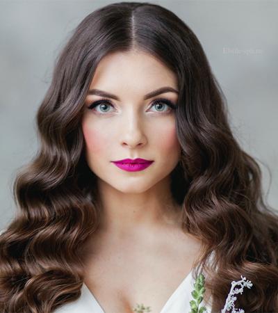 maquillaje-para-un-vestido-rosa-fucsia-rosa-violeta