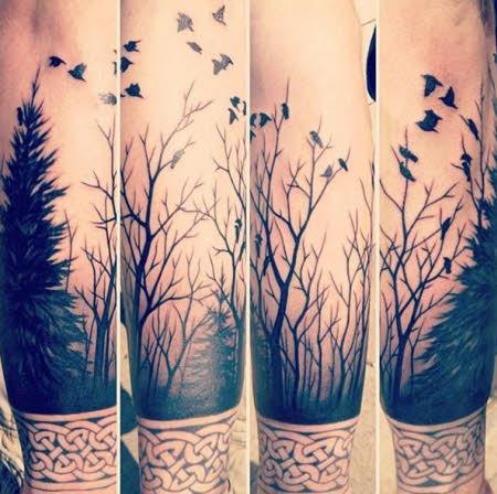 tatuajes-brazo-hombre-bosque