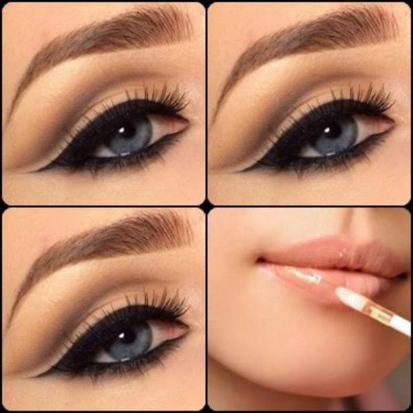 Las mejores ideas de maquillaje para vestido rojo - Ojos ahumados para principiantes ...