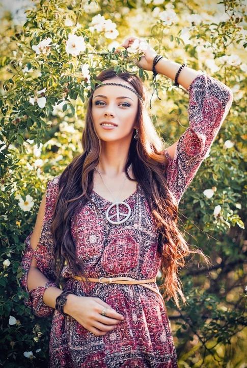 Maquillaje años 70 hippie
