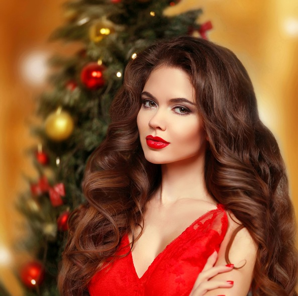Maquillaje para vestidos rojos de fiesta