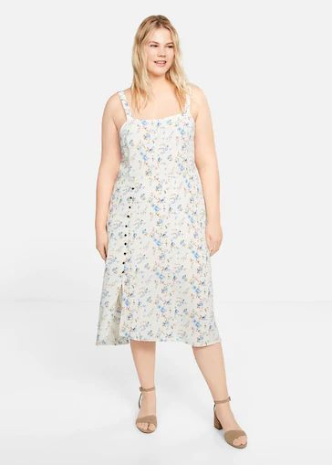 mejores-tiendas-tallas-grandes-vestido-estampado-flores-violetabymango