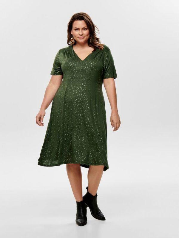 mejores-tiendas-tallas-grandes-vestido-verde-brillo-onlycarmakoma